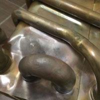 Ремонт газовой колонки, Свищь теплообменника (пайка)