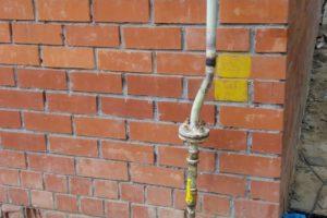 Заглушка+перенос газовой трубы в частном доме