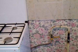 Обрезка газовой трубы на последнем этаже (сварка)