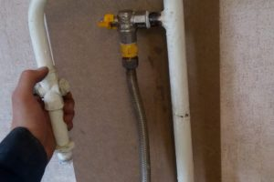 Результат обрезки газовой трубы